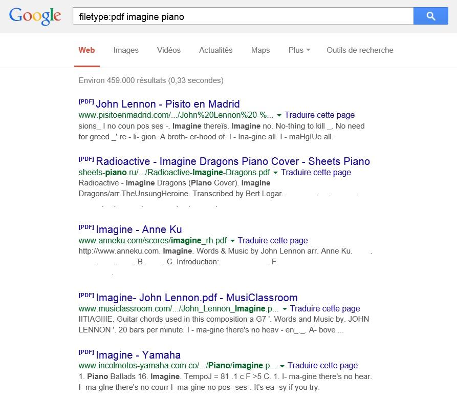 recherche google partitionpdf