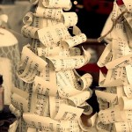 vintage sheet music christmas tree how to make
