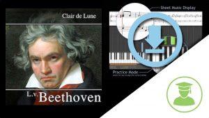 PianoLab | Fichier midi: Clair de Lune – BeethovenFichier